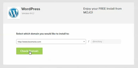 Install WordPress on your domain name