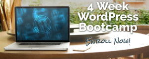 4 week wordpress bootcamp