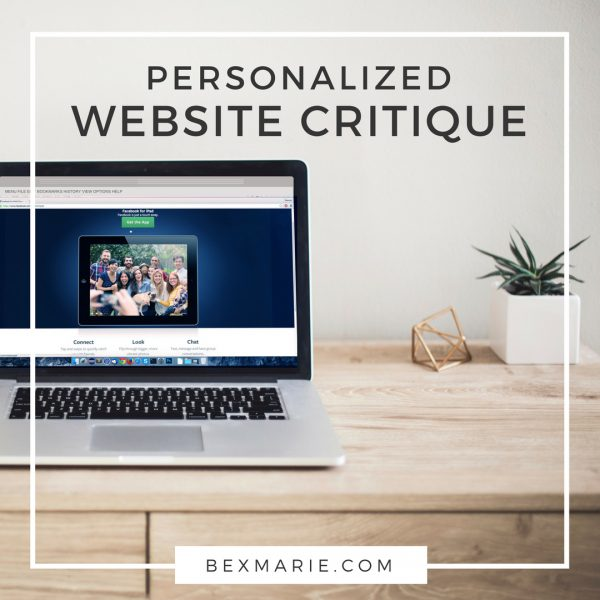 personalized website critique for handmade sellers