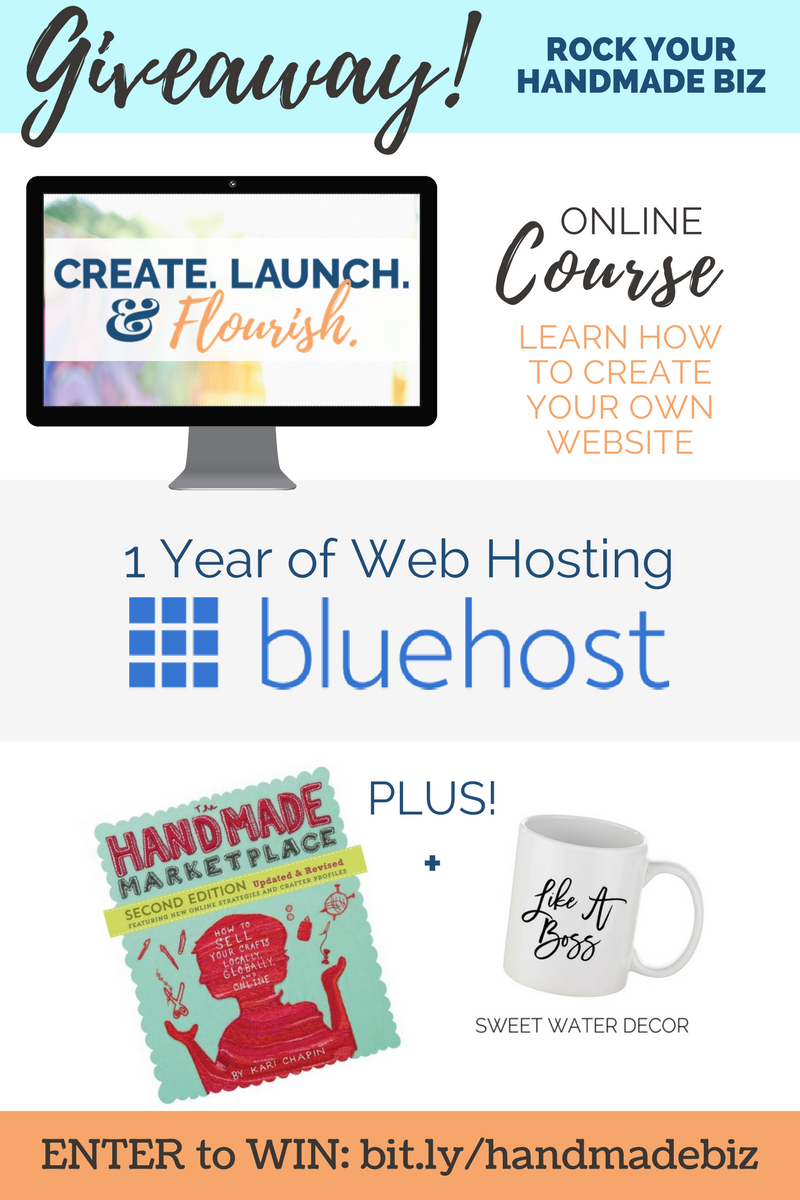 Giveaway! Create & Launch your handmade biz website