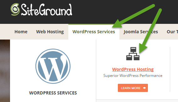 Screenshot: SiteGround WordPress Hosting