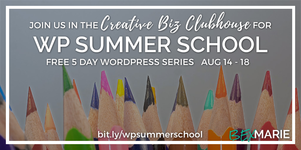 WP Summer School Aug 14-18