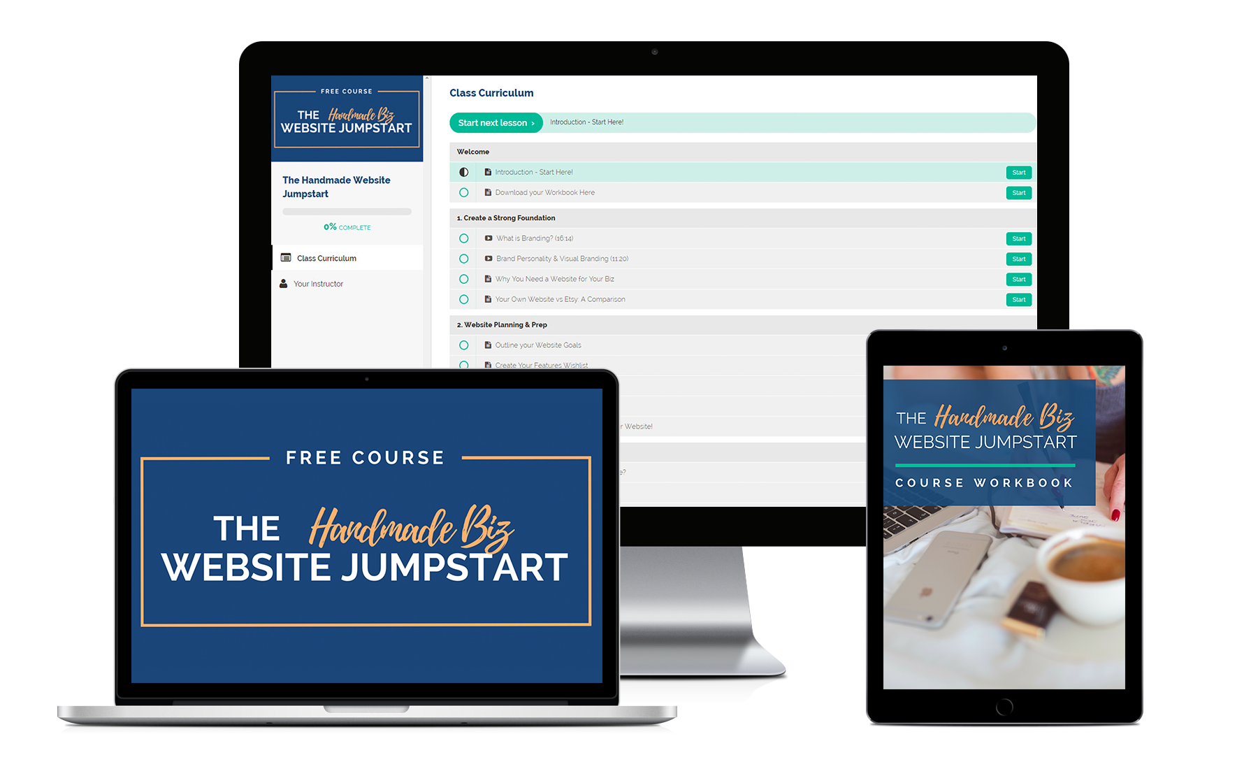 Free Website Course for Handmade Business Owners and Etsy Sellers