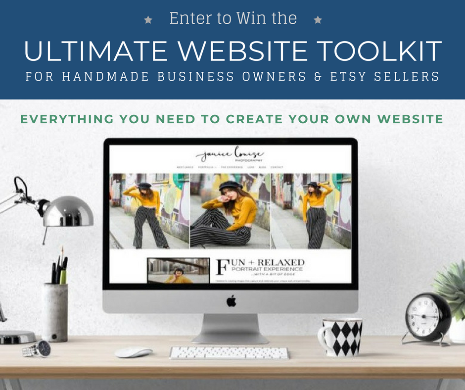 Ultimate Website Toolkit Giveaway for Handmade business owners and Etsy Sellers