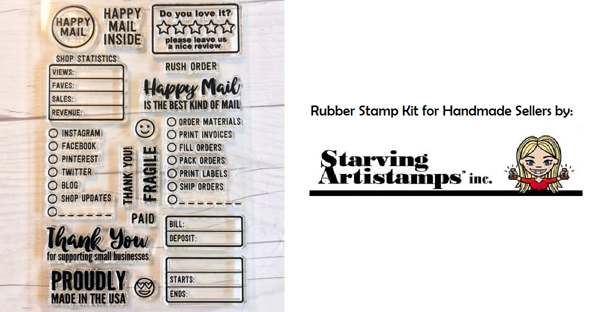 Rubber stamps for handmade sellers